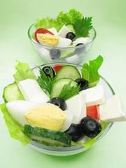 two greek salads
