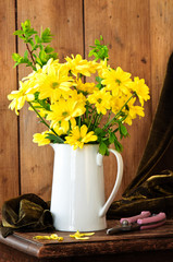 Yellow Flower Display Vase
