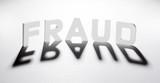 concept mot fraud ombre et lumière poster