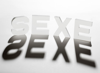 concept mot sexe ombre et lumière