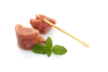 Carne in gelatina con grissino