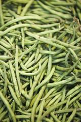 haricots verts frais en vrac