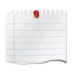 Recorte de papel de cuaderno