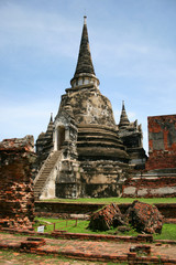 Ruins in the ancient city of Ayutthaya, Thailand.