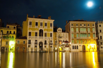 Canal Grande general view located at Venice, Italy