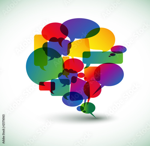 Abstract big speech bubble