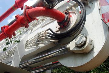 Dettaglio dei meccanismi di trasmissione di una pompa autocarrat
