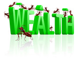 building wealth rich and wealthy poster