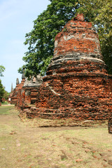 Ruins in the ancient city,  Ayutthaya, Thailand.