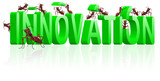 innovation research and invent invention development poster