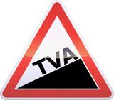 Panneau de danger augmentation de TVA (reflet métal) poster