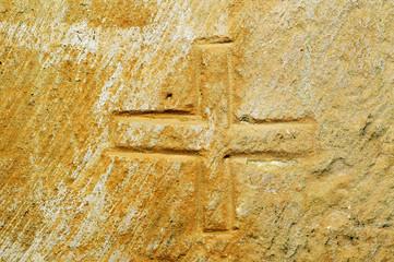 mason's mark in a stone