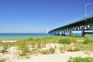 Lake shore of Mackinac
