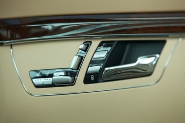 Controls on interior of car door