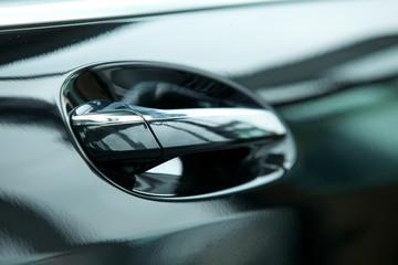 Handle on exterior of car door