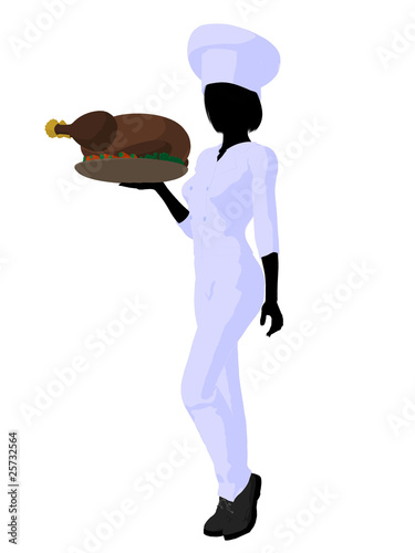 """""""Female Chef Art Illustration Silhouette"""" Stock photo and ..."""