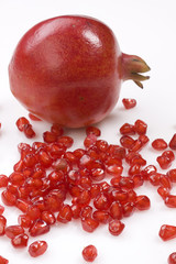 fresh pomegranate with seeds