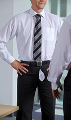 embarassed Businessmen at office