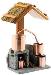 maquette fonctionnelle de distillerie de vétiver ou géranium