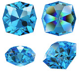 blue sapphire gem isolated poster