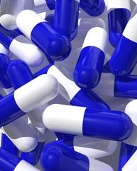 capsules blue