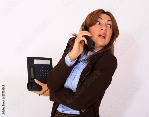 Girl on the phone - Stress situation