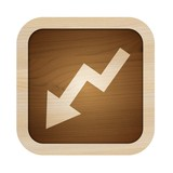 web icon ecologic decrease arrow poster