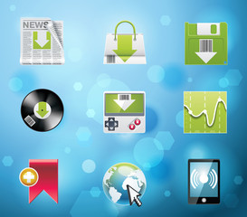 Typical mobile phone apps icons. EPS 10 version. Part 4