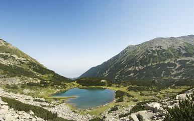 Mountain valley, small lake