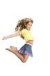 little beautiful girl jumping