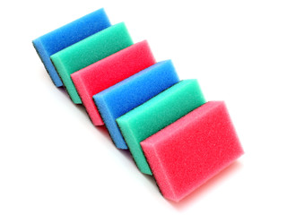 Multicolored sponges