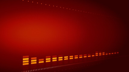 Graphic futuristic equalizer with glow and flare