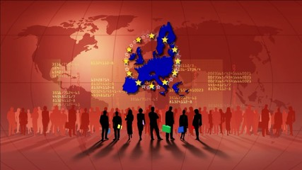 Video motion background: European Union
