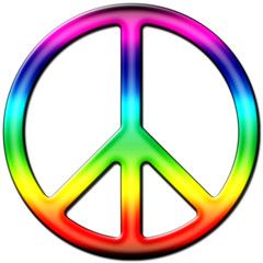 Peace and love coloré