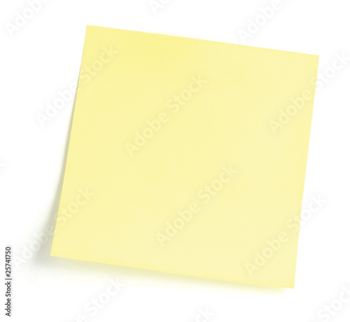 Blank Yellow To-Do List Sticker Closeup isolated