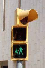 Pedestrian crossing light in Barcelona