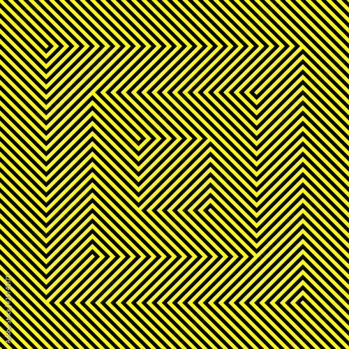 Seamless geometric ornament.Optical Illusion