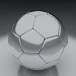 Detaily fotografie lesklý fotbal