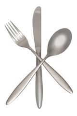 Gabel, Löffel, Messer inklusive Beschneidungspfad