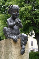 Kleine Satyr-Statue in Pirna