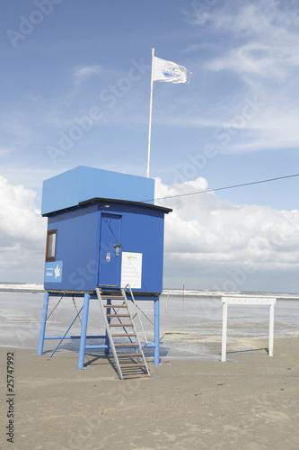 Foto op Canvas Noordzee rettungsschwimmerhäuschen an der deutschen Nordseeküste