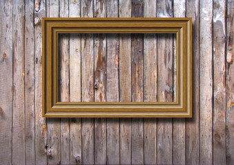 Wooden framework against an old wooden wall