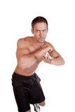 Man fighting elbow up poster