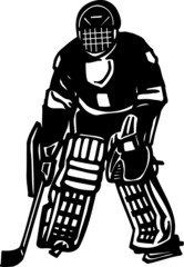 Hockey Player Vinyl Ready Vector Illustration