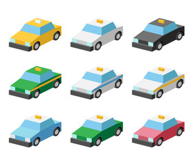 taxi illustration icon color variation