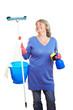 Zufriedene Reinigungskraft
