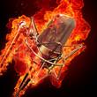 Quadro professional studio microphone & fire