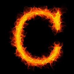 Fire letter C