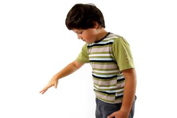 Boy with yo-yo, isolated