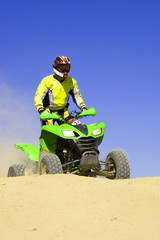 Green quad in the dune